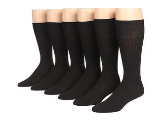 Ecco Socks Dress Wool Rib Midcalf 6-Pack