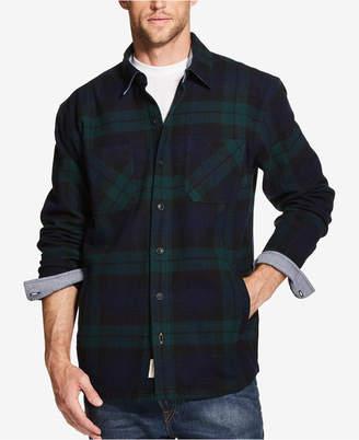 Weatherproof Vintage Mens Plaid Flannel Shirt Jacket