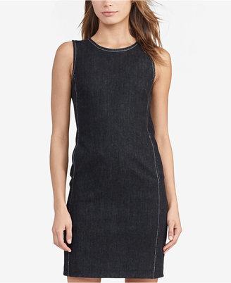 Lauren Ralph Lauren Denim Shift Dress $125 thestylecure.com