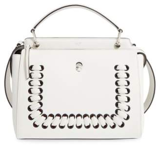 Fendi 'DOTCOM' Lace-Up Leather Satchel