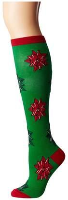 Socksmith Christmas Bows Women's Crew Cut Socks Shoes