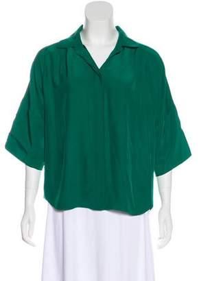 Lafayette 148 Silk Three-Quarter Sleeve Blouse