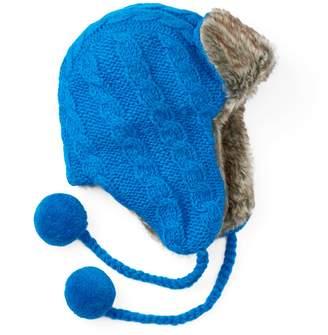 Sijjl Women's SIJJL Cable-Knit Trapper Hat