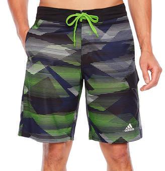 adidas Striped Swim Trunks
