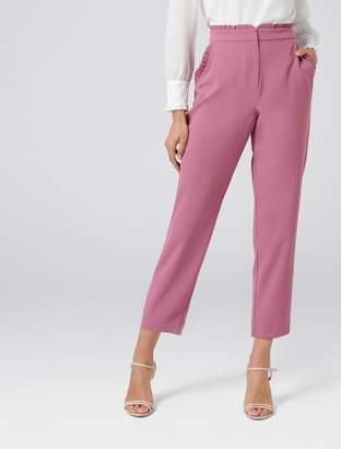 Forever New Nellie Frill Pants - Antique Almond - 8