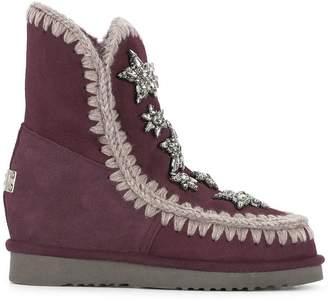 Mou crystal embellished boots