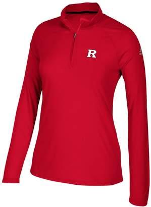 adidas Women's Rutgers Scarlet Knights Ultimate Quarter-Zip Tee