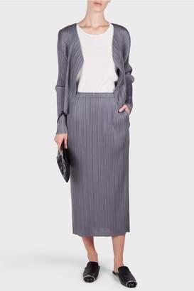 Pleats Please Issey Miyake Basic Long Sleeves Cardigan
