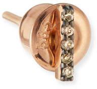 Kismet by Milka Lumiere 14K Rose Gold & Champagne Diamond Stick Earring