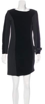 Akris Velvet-Accented Shift Dress