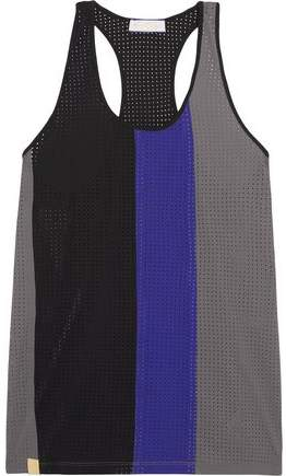 Color-Block Perforated Stretch-Jersey Tank