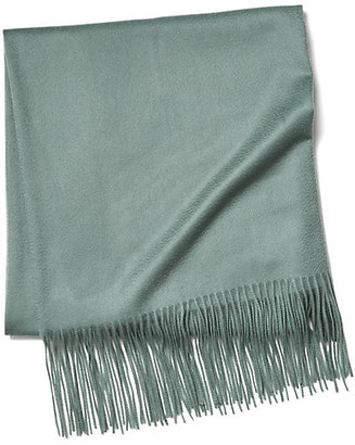 One Kings Lane Solid Cashmere Throw - Spa Green
