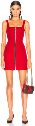 Nicholas Red Suiting O Ring Dress