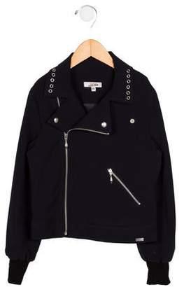 Jean Paul Gaultier Girls' Embellished Zip-Up Jacket