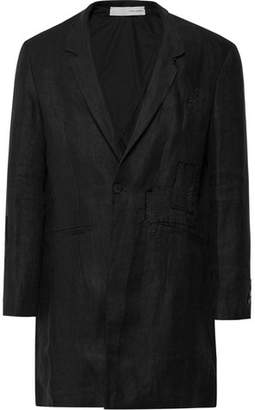 Isabel Benenato Distressed Linen Overcoat