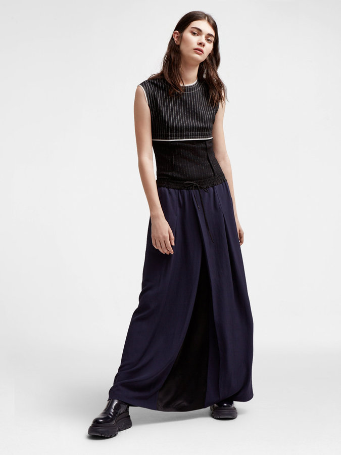 DKNY Dkny Pure Urban Twill Maxi Skirt