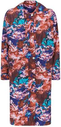 Kenzo Abstract Print Raincoat
