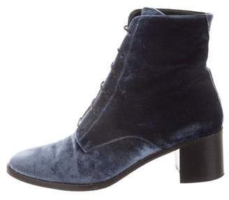 aa6cce6f84139 Pre-Owned at TheRealReal · Freda Salvador Velvet Lace-Up Ankle Boots