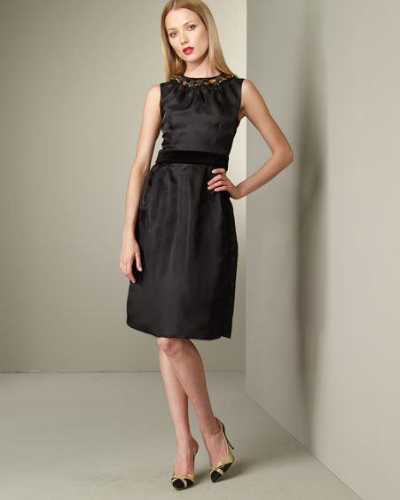 D&G Dolce & Gabbana Jeweled Neck Dress