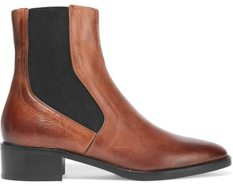 Vince - Carrington Burnished-leather Chelsea Boots - Tan $395 thestylecure.com