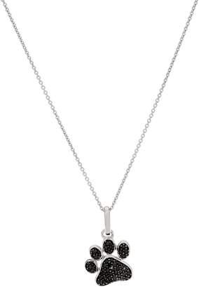 Affinity Diamond Jewelry Affinity Diamond 1/3ct Paw Print Pendant w/ Chain, Sterling