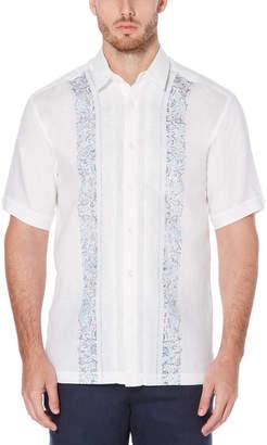 Cubavera Paisley Panel Print Shirt