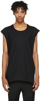 Ann Demeulemeester Black Colorblock T-Shirt