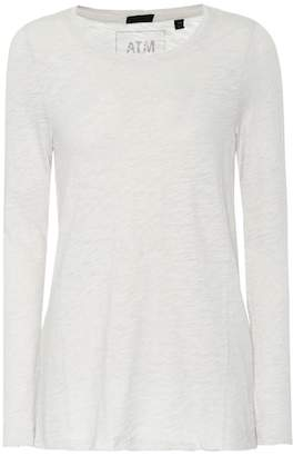 ATM Anthony Thomas Melillo Cotton-blend long sleeve top