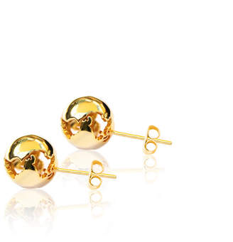 27030445d832a0 Cristina Ramella World Inspired Jewelry World Small Gold Earrings