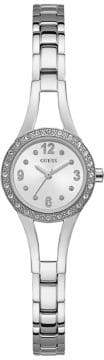 GUESS Crystal-Trimmed Stainless Steel G-Link Watch