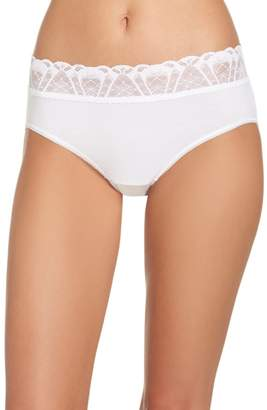 Hanky Panky Lace Trim Cotton French Briefs