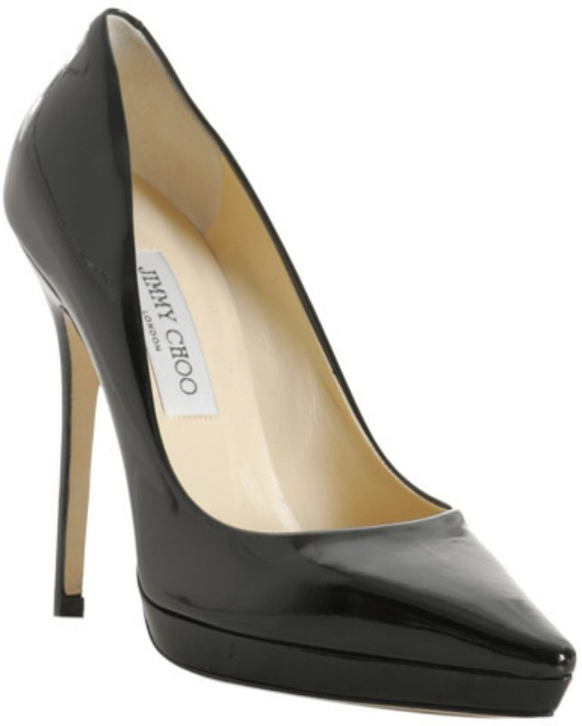 Jimmy Choo black patent 'Ember' platform pumps