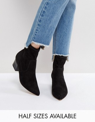 ASOS REGIONAL Point Sock Boots $56 thestylecure.com