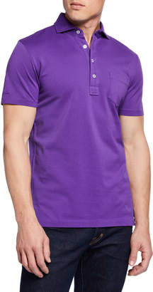 Ralph Lauren Men's Pique Pocket Polo Shirt, Violet