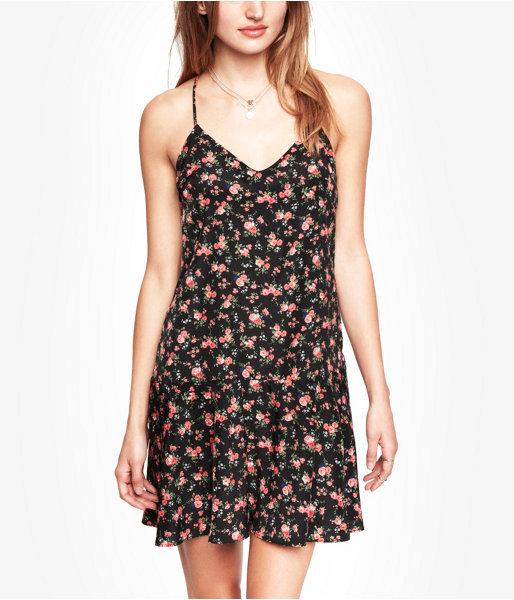 Express Floral Drop Waist Cami Dress