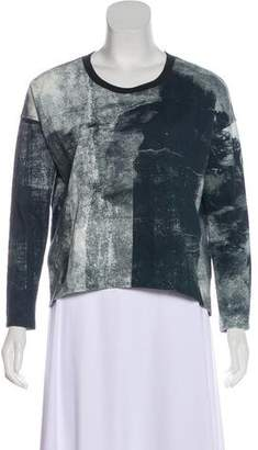 Helmut Lang Crew Neck Printed Sweater