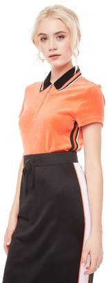 Juicy Couture Stretch Velour Polo Shirt