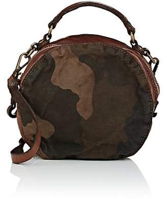 Campomaggi Women's Leather-Trimmed Canvas Circle Bag