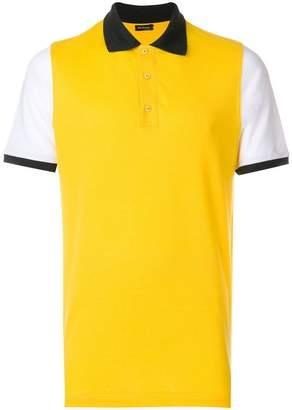 Kiton colour block polo shirt