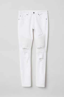 H&M Biker Jeans - White