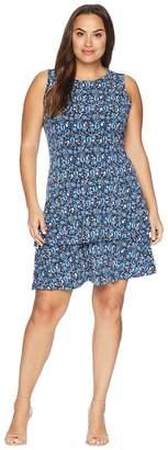 MICHAEL Michael Kors Size Woodblock Sleeves Flounce Dress Women's Dress