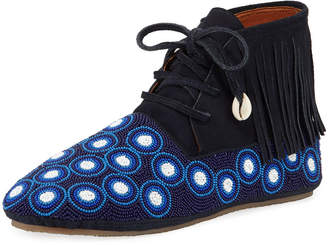 Figue Beaded Dots High-Top Wolf Moccasin Booties