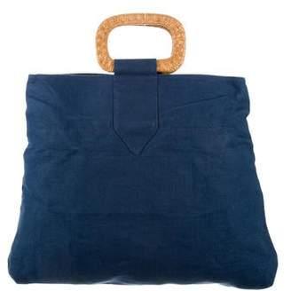 Barneys New York Barney's New York Wicker Handle Bag