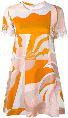 Emilio Pucci Acapulco Print Embroidered Mini Dress