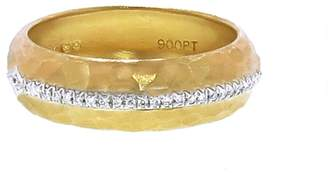 Cathy Waterman Gold Band With Diamond Arrow