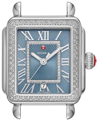 Michele Deco Madison Diamond Watch Head, Blue