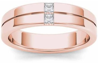 Imperial Diamond Imperial 1/4 Carat T.W. Diamond Men's 14kt Rose Gold Wedding Band