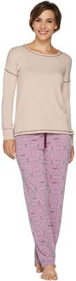 Cuddl Duds Comfortwear French Terry Novelty Pajama Set