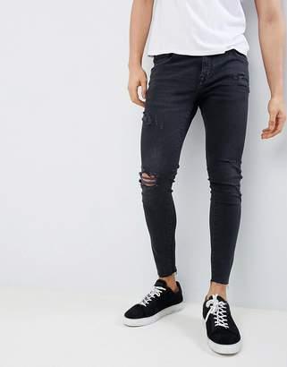Pull&Bear Skinny Fit Jeans In Black