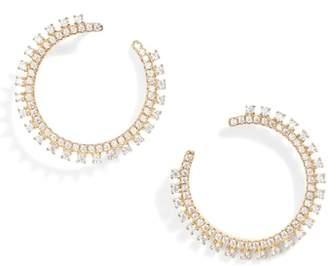 Nordstrom Pave Open Starburst Hoop Earrings